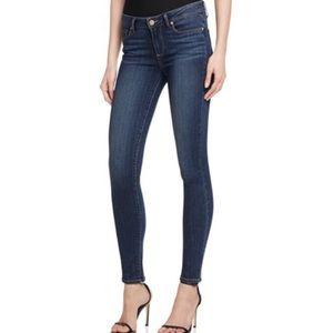 Paige Skyline Ankle Peg Medium Wash Jeans